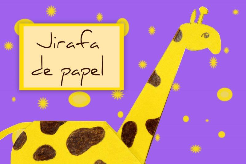 cabecera jirafa de papel