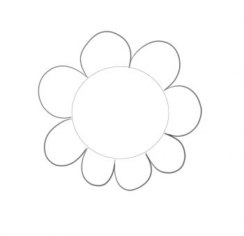 formas sencillas flor paso 2