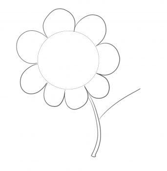 formas sencillas flor paso 3