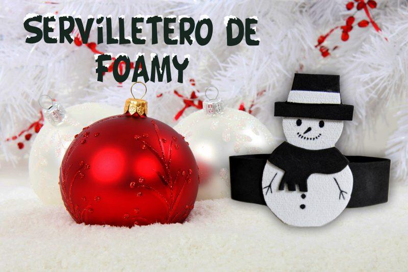 cabecera servilletero muñeco de nieve