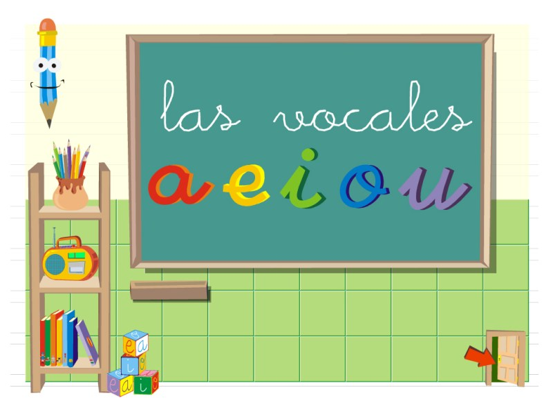 pantalla de inicio las vocales