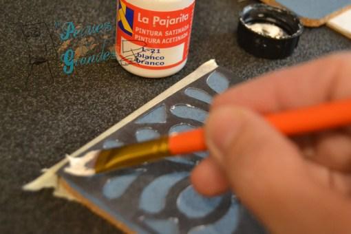 pintando la plantilla