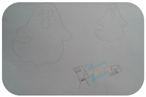 fantasma sobre goma eva blanca