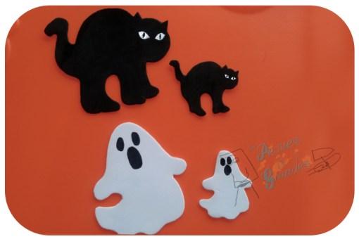 gatos y fantasmas pintados