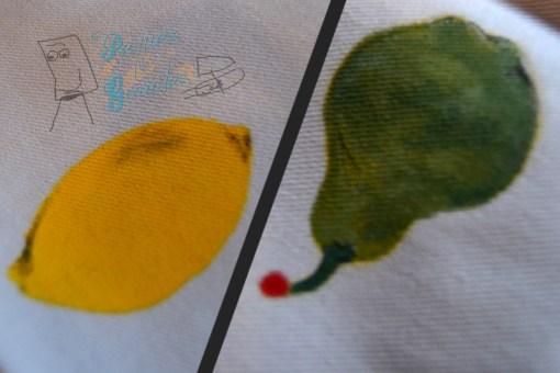 detalles de limón y pera