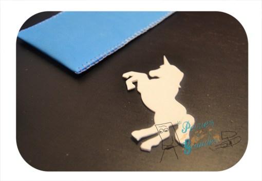 plantilla de unicornio recortada en la goma eva