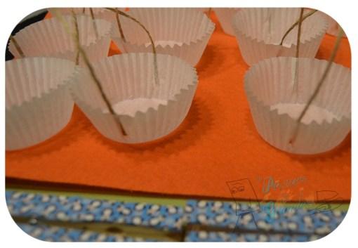 moldes de magdalenas con hilo de cáñamo