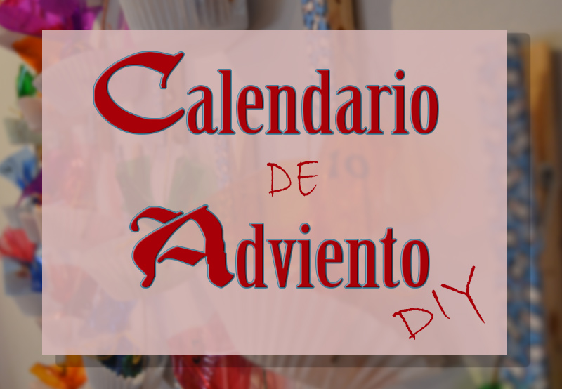 portada calendario de adviento diy