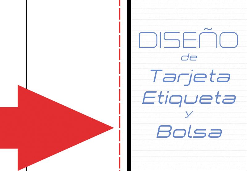 portada diseño de tarjeta, etiqueta, bolsa y postal