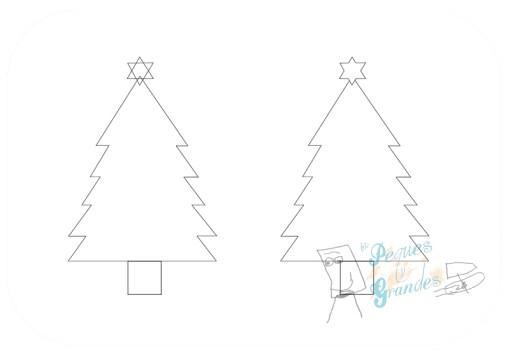 paso 3 dibujo árbol de navidad