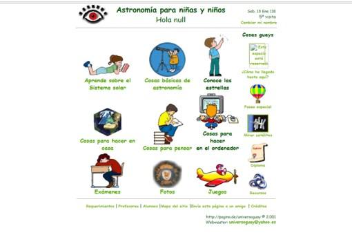 Astronomía niñas y niños