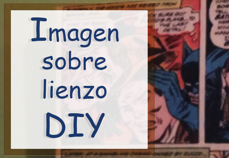cabecera imagen sobre lienzo DIY
