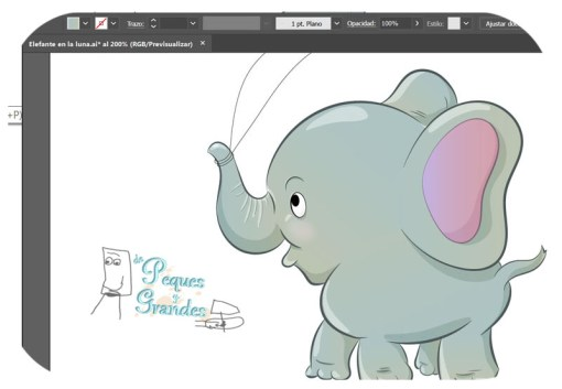 Elefante coloreado
