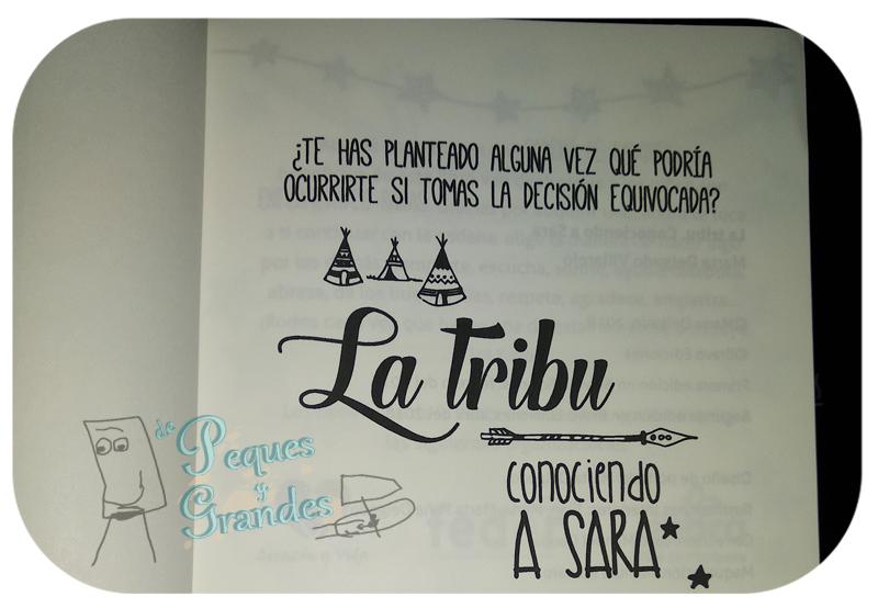 interior del libro La Tribu, conociendo a Sara
