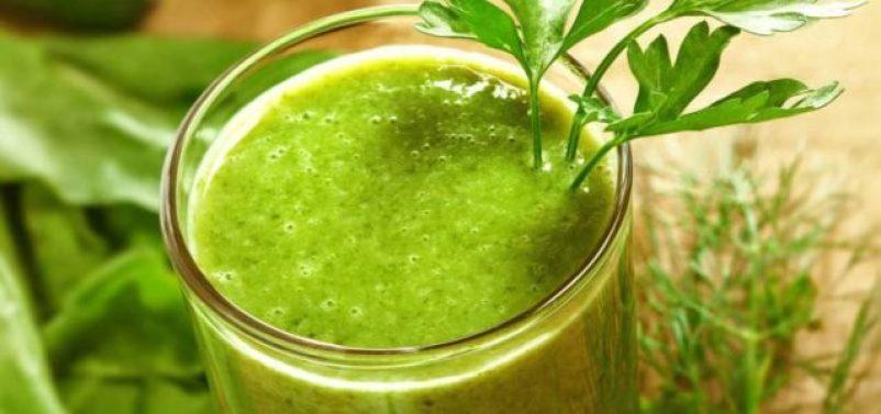 batido verde contra celulitis