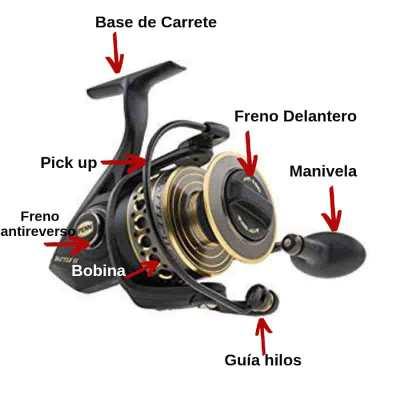 Partes-de-un-carrete Los 7 tipos de carretes de Pesca más utilizados por el pescador