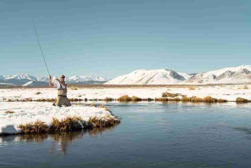 pescador pesca a mosca