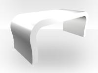 White Outer Coffee Table Curved  White Matt Inner - Zespoke