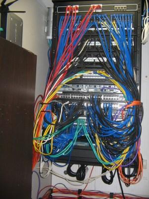 HOASC First Floor wiring closet | DePhillips Media