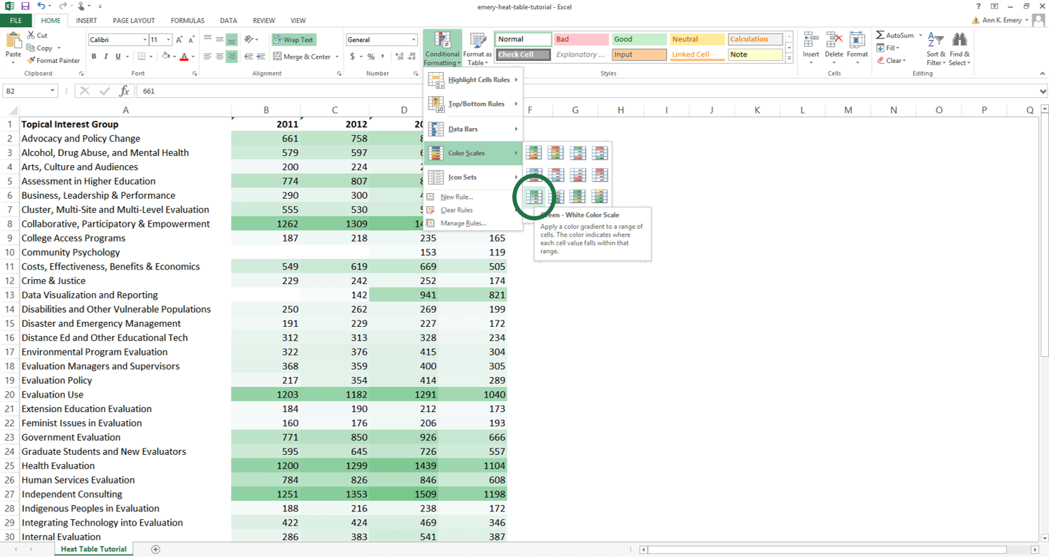 How To Make A Heat Table In Microsoft Excel