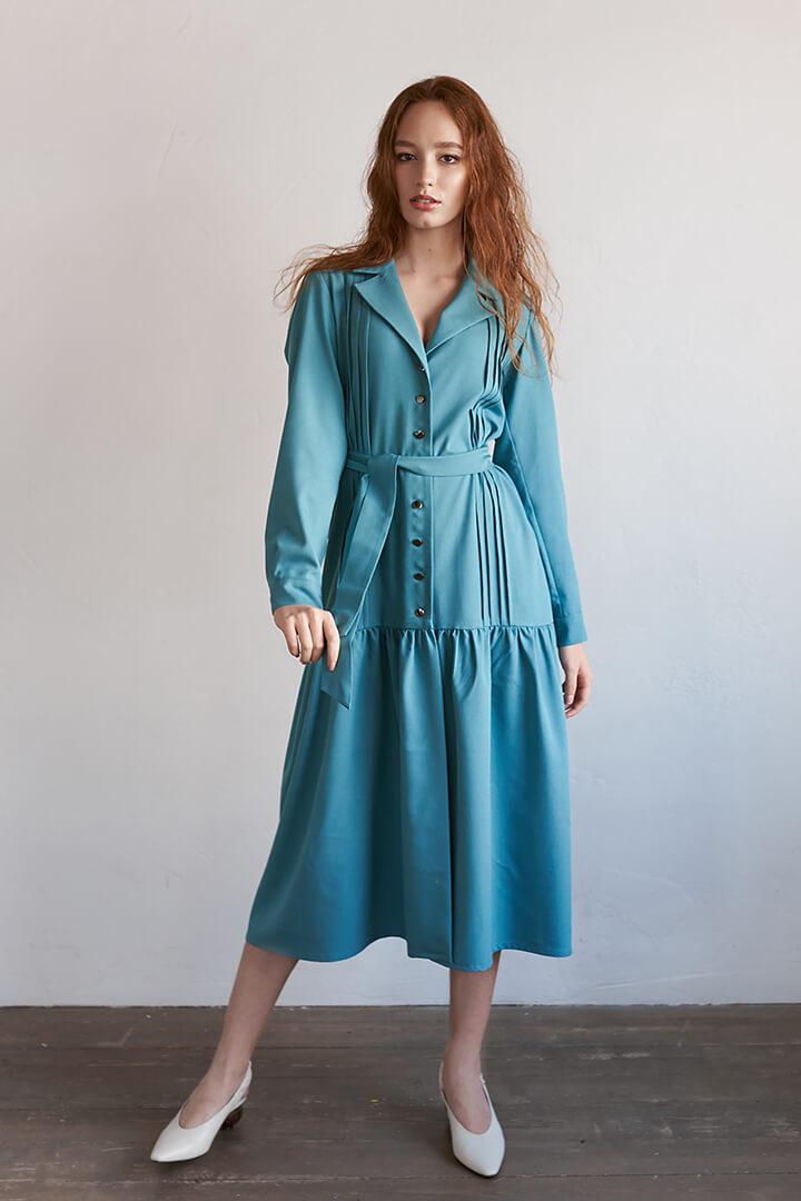 Платье с воланами DE palce