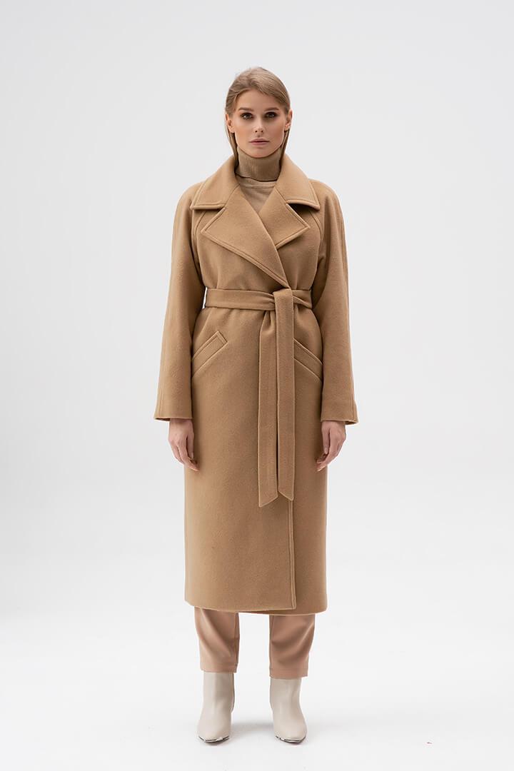 Пальто-халат бежевое DEplace