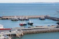 Vista del puerto pesquero (Hondarribia)
