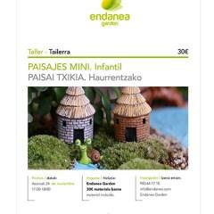 TALLER INFANTIL DE PAISAJES EN MINIATURA – ENDANEA (HONDARRIBIA)