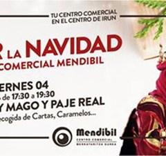 VISITA DE REY MAGO Y PAJE REAL AL CENTRO COMERCIAL MENDIBIL (IRUN)