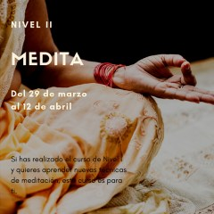 CURSO DE MEDITACIÓN – NIVEL II – ICIAR GARCIA YOGA STUDIO (IRUN)