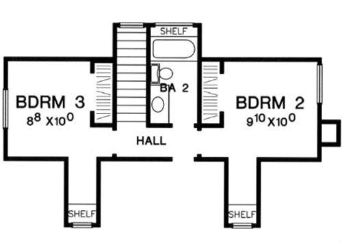 plano casa de 2 pisos y 3 habitaciones