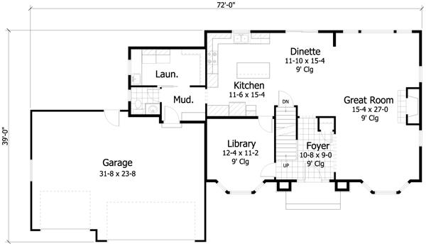 plano planta baja casa de 2 pisos y 4 habitaciones