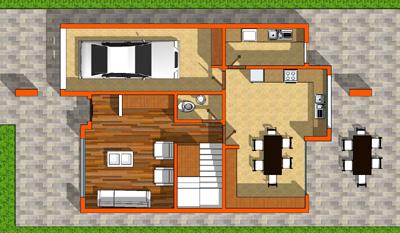 plano planta baja casa sierra colombiana