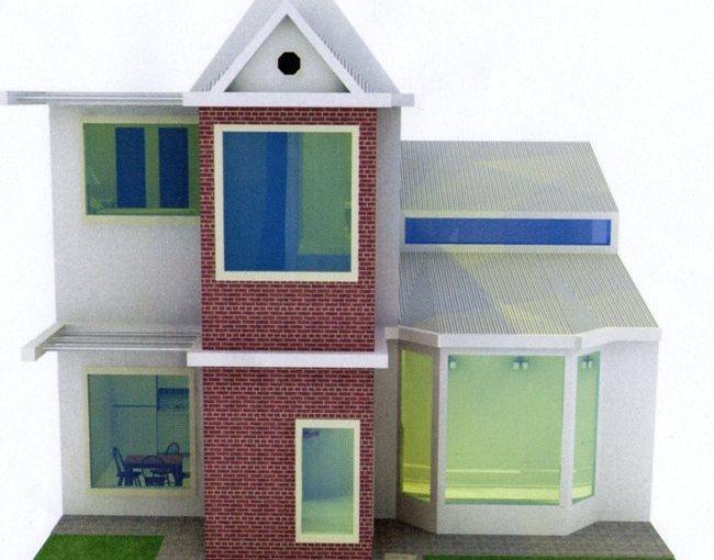 Casa de dos pisos y un dormitorio