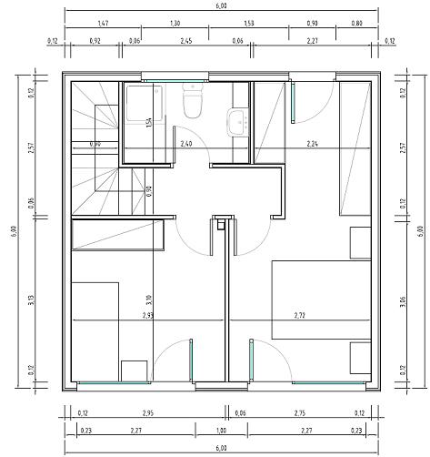 Casa cubo de 72 metros cuadrados planos de casas gratis for Ver planos de casas de una planta