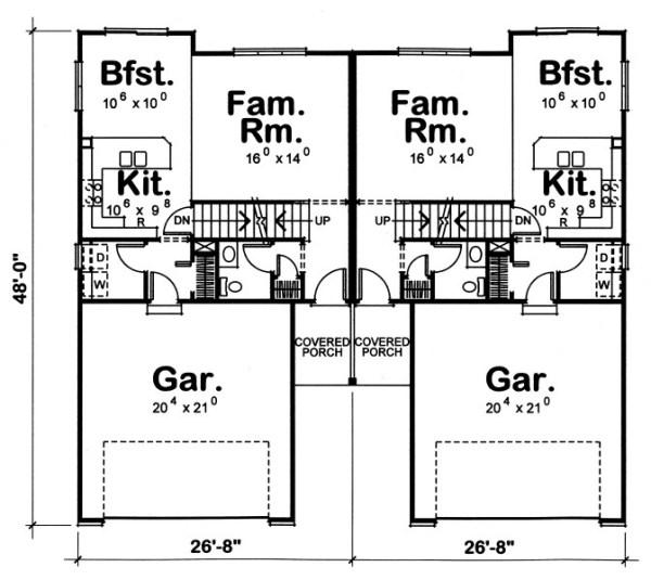 Duplex de tres dormitorios y 134 metros cuadrados planos - Planta baja en ingles ...