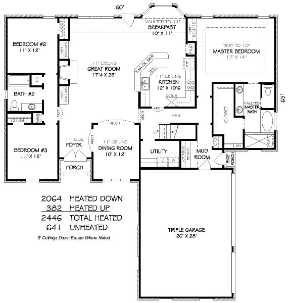 Casa de 3 dormitorios y 227 metros cuadrados planos de for Planos cocinas de hoteles