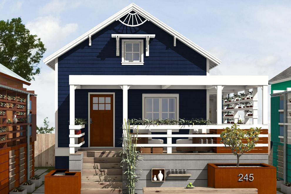 Casa ecologica de 2 dormitorios y 83 metros cuadrados