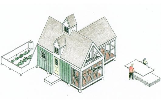 Pequeña casa de 20 metros cuadrados
