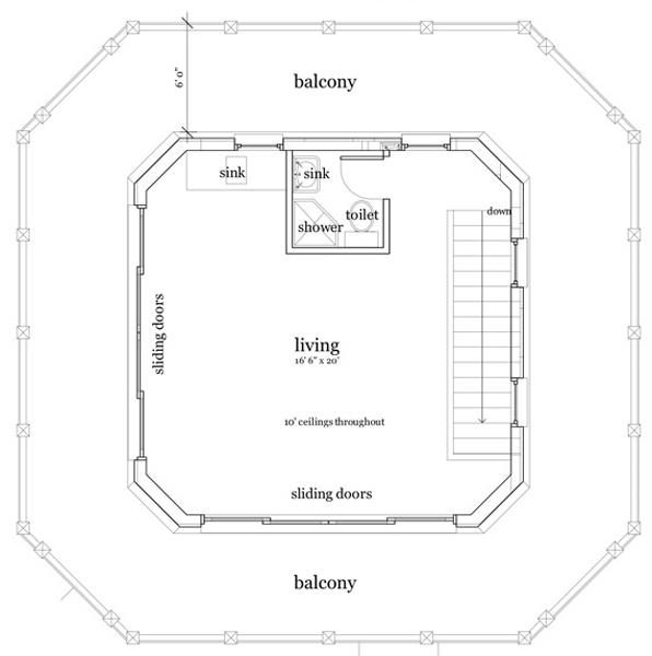 Casa de tres pisos dos dormitorios y 141 metros cuadrados - Bano 3 metros cuadrados ...