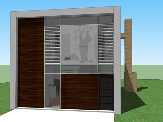 Moderna casa de dos pisos, dos dormitorios y 66 metros cuadrados