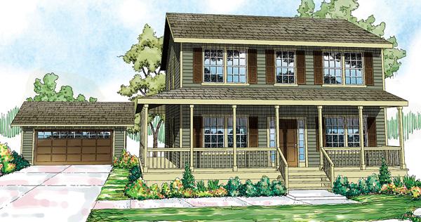 Casa de madera de dos pisos, tres habitaciones y 161 metros cuadrados