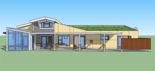 Casa verde de 2 habitaciones y 121 metros cuadrados