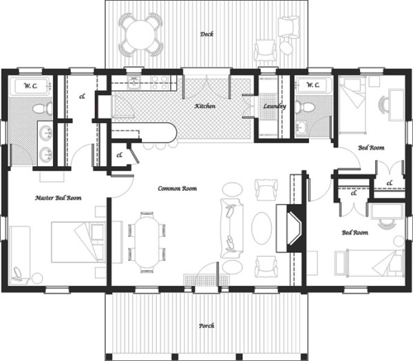 Casa de un piso tres dormitorios y 106 metros cuadrados for Dormitorio 15 metros cuadrados