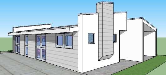 Moderna casa de tres dormitorios y 112 metros cuadrados