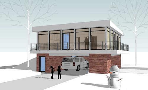 Casa moderna de 2 dormitorios y 86 metros cuadrados