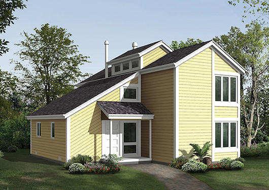 Casa de madera de 2 pisos, 3 dormitorios y 171 metros cuadrados