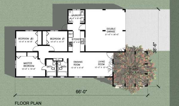 Moderna casa de tres dormitorios y 102 metros cuadrados for Dormitorio 12 metros cuadrados