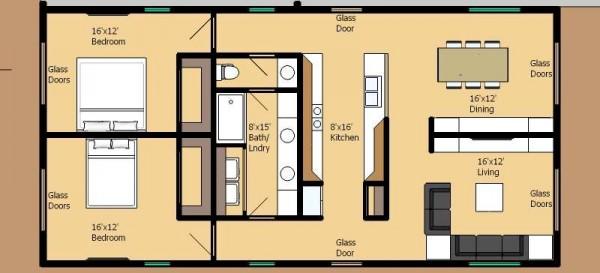 Casa moderna de 2 dormitorios y 116 metros cuadrados ...