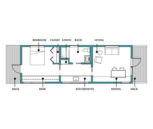 Peque a casa de un dormitorio y 43 metros cuadrados planos de casas gratis deplanos com - Pasar de metros a metros cuadrados ...